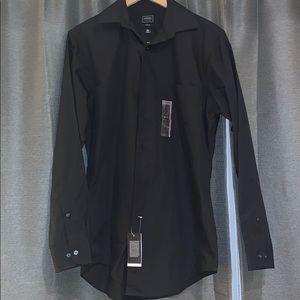 Black long sleeve button down shirt